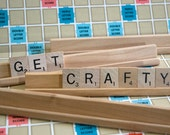 4 Scrabble Tile Racks