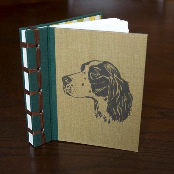 Vintage Book Upcycled Journal, Dapper Dog