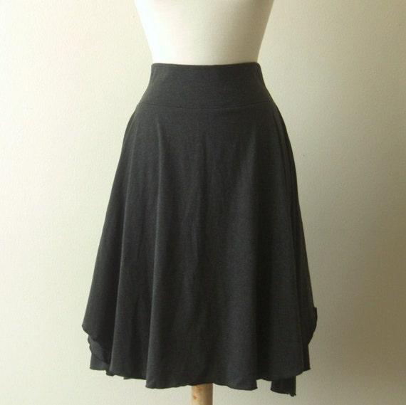 Womens Cotton Skirt Jersey Flutter