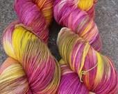 Bootsie Hand Dyed Sock Yarn - Rose Mexico
