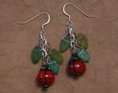Ladybug Garden Earrings