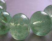 Handmade Glass Green Lampwork Beads Ericabeads Celadon (6)