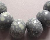 Beads Handmade Grey Glass Lampwork Ericabeads Speckled Slate (6)