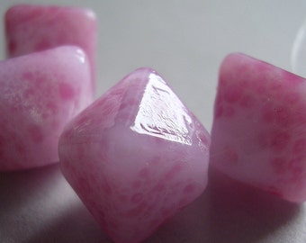CLEARANCE 20& Lampwork Glass Beads Handmade Ericabeads Pink Frit Crystals (4)