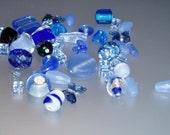 1 ounce Blue Loose Beads