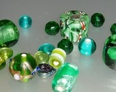 1 ounce Loose Green Beads