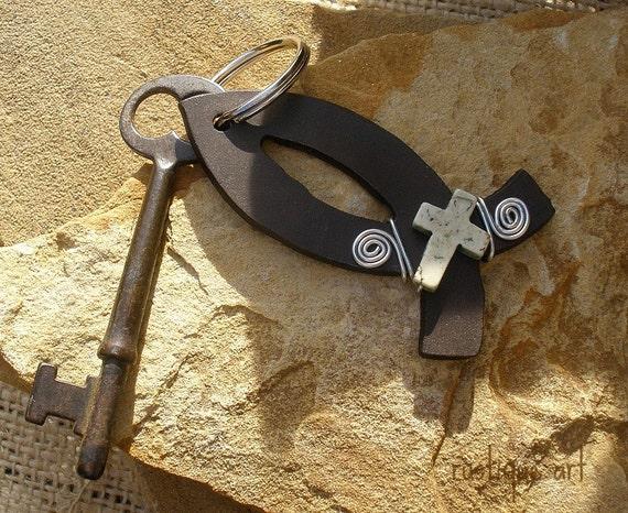 Christian Fish Key Ring
