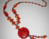 SUMMER SALE -Princess Anabelle Red Necklace