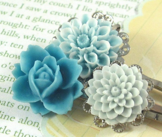 Snow Blossom. Hair Pins