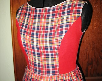 SALE Plaid Dress