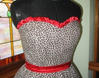 Sample SALE Leopard Circle Skirt Dress