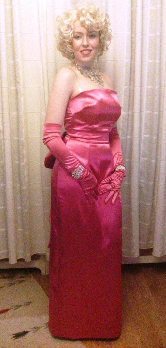 Marilyn Monroe Pink Satin Diamonds Dress