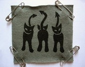 Green Evil Kitty Patch