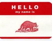 hello animal stickers