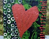 Heart Mixed Media Acrylic Painting on Canvas- BC Fund