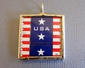 Patriotic Stamp Pendant
