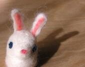 White Rabbit Finger Puppet