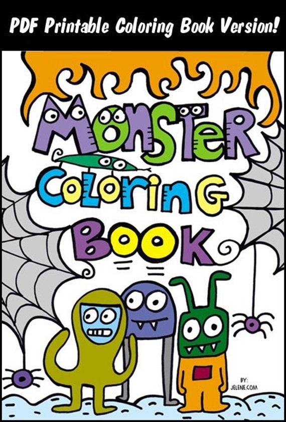 PDF Printable Version Pop Art Monster Coloring Book