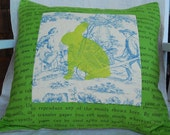 Favorite Things Stenciled and Quilted Cushion Cover
