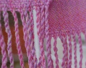 Handwoven scarf - Multi Pinks