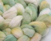 Jungle Flowers - Handpainted pure merino top 22micron