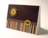 Retro Stripes Notecards - Set of 4