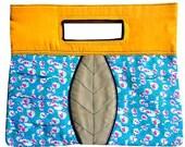 ON SALE - Clutch Bag - The Petiole Clutch (Vintage Petite Floral Blues)