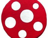 Seat Floor Cushion - Magical Mushroom (RED/ WHITE)