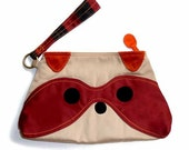 ON SALE - WRISTLET - Bandit The Raccoon Wristlet