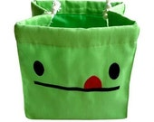 Drawstring Pouch - Cheeky Monster Takeaway Poche (GREEN MONSTER)