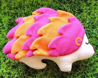 Hedgehog Porcupine Plush Toy, Hedgehog soft toy, Hedgehog doll, Hedgehog softie, Hedgehog toy, Decorative toy - PINK color plush toy