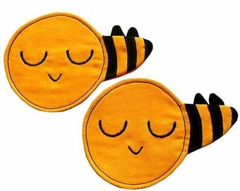 Coasters - Busy Buzzy Bee Coaster Pair (HONEY)