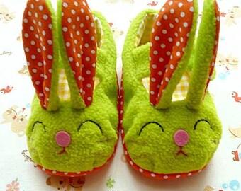 Baby Booties - Bunny MaryJanes (GREEN)