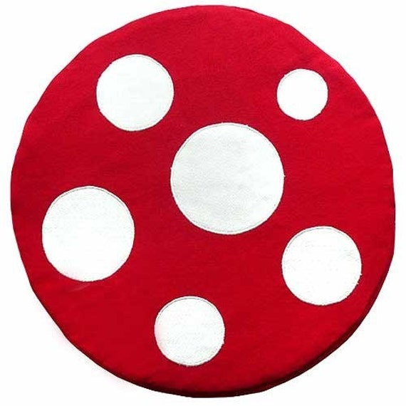 Seat Floor Cushion - Magical Mushroom (RED/ WHITE)