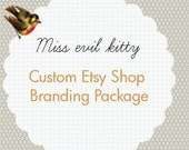 Custom Etsy shop  SNOWY package with Business card
