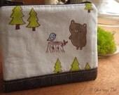 Forest Bear Original Fabric Pouch