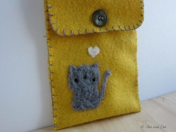 Kitty Grey on Mustard Woolen Cozy