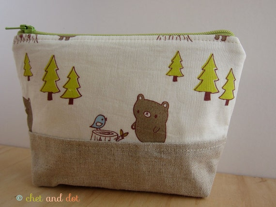 Forest Bear Make Up Pouch