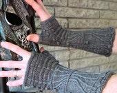 Gillaspie Gothic Gauntlets Knitting Pattern Medieval Fingerless Gloves