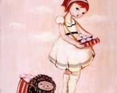 Sweet Toothed Art from The Black Apple - The Cupcake Peddlers Print 8x10