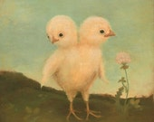 Two Headed Chick Print 8x10