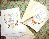 Postcard Set: Bee's Knees & Cat's Pajamas by Emily Winfield Martin