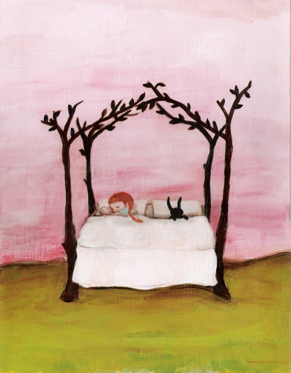 Branch Bed Print