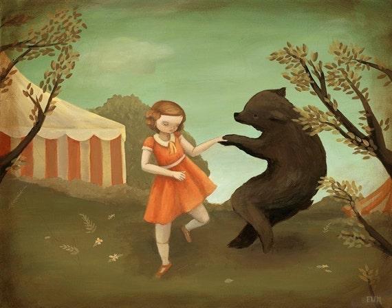 Bear Dance Print 10x8