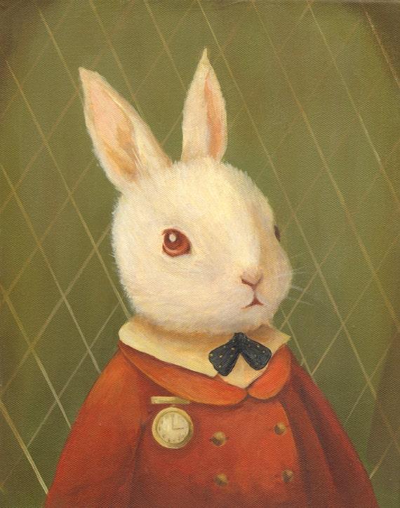 The White Rabbit Print 11x14