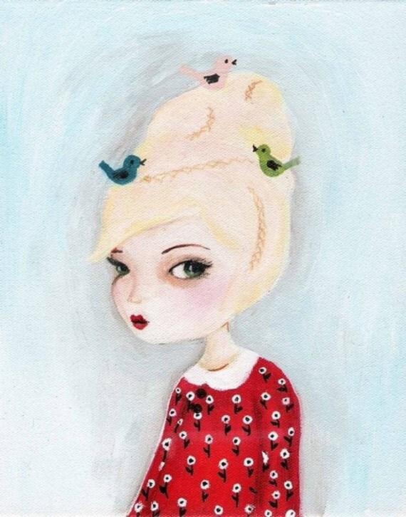 Birdsnest Girl Print