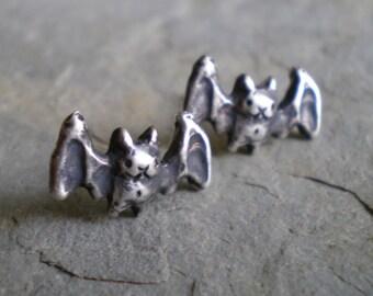 Bat Post Earrings