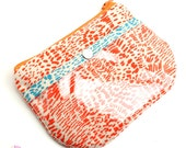 CLEARANCE SALE - ID Zipper Pouch - From Scratch - Orange