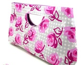 CLEARANCE SALE : Classic Clutch Bag -  Rose Garden