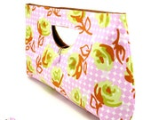 CLEARANCE SALE :Classic Clutch Bag -  Rose Garden